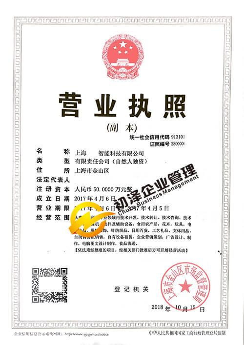 智能科技公司注册