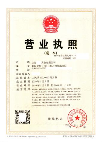 上海宝山实业公司注册